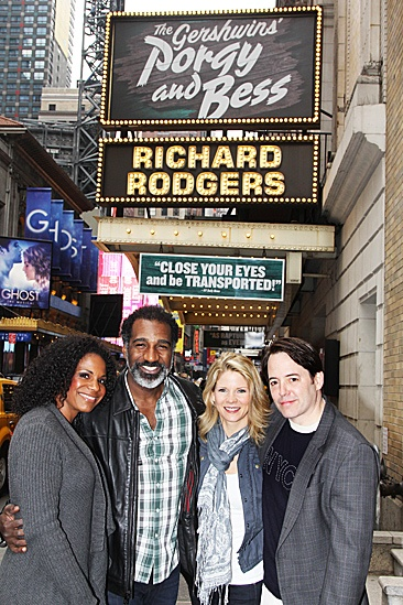Nice Work If You Can Get It  Norm and Audra Visit  Audra McDonald  Norm Lewis  Kelli OHara  Matthew Broderick