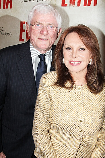 Evita  Opening  Phil Donahue  Marlo Thomas