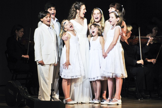 Sound of Music at Carnegie Hall – Laura Osnes – children