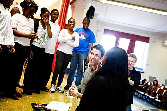How to Succeed – Nick Jonas School Visit – Nick Jonas – students – teacher