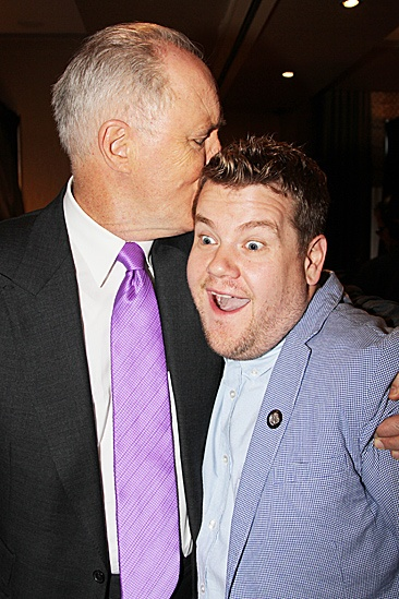 2012 Tony Brunch  John Lithgow  James Corden (kiss)