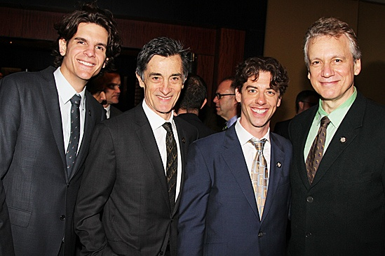 2012 Tony Brunch  Alex Timbers  Roger Rees  Christian Borle  Rick Elice