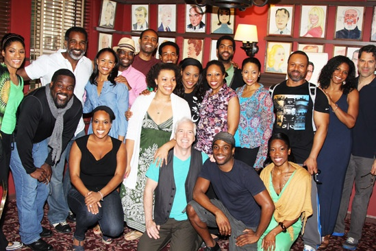 Norm Lewis portrait at Sardi's – group shot