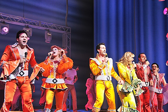 Mamma Mia  2012 New Cast Opening Night  Graham Rowat  Felicia Finley  Aaron Lazar  Judy McLane  Daniel Cooney  Lauren Cohn