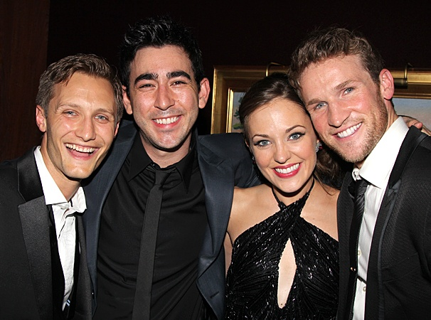 2012 Tony Awards  O&amp;M After Party  Nathan Johnson  Max Crumm  Laura Osnes  Claybourne Elder