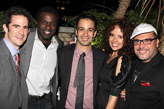 Bring It On Opening Night – Andy Blankenbuehler – Joshua Henry – Lin-Manuel Miranda - Janet Dacal – Eliseo Roman