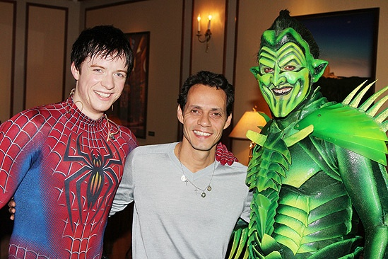 Spider-Man Turn Off the Dark  Marc Anthony Visit  Matthew James Thomas  Marc Anthony  Robert Cuccioli