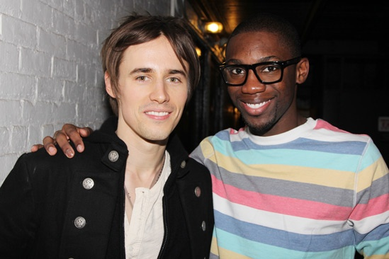 Reeve Carney Visits Bring It On  Reeve Carney  Dominique Johnson