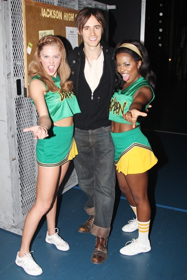 Reeve Carney Visits 'Bring It On' — Taylor Louderman — Reeve Carney — Adrienne Warren