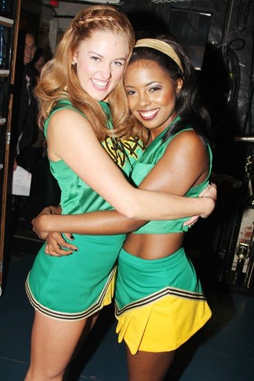 Reeve Carney Visits 'Bring It On' — Taylor Louderman — Adrienne Warren