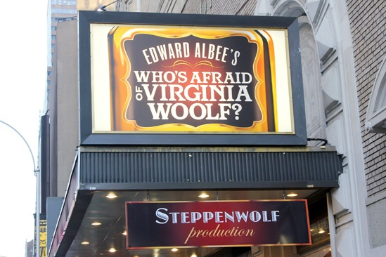 Who's Afraid of Virginia Woolf – Opening Night – marquee