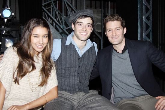 Matthew Morrison at Newsies – Corey Cott – Matthew Morrison – Renee Puente