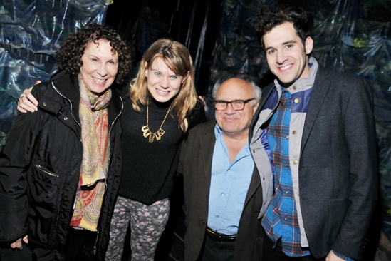 Danny DeVito and Rhea Perlman at Peter and the Starcatcher – Rhea Perlman – Celia Keenan-Bolger – Danny DeVito – Adam Chanler-Berat