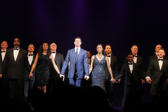 The Bodyguard opening night  curtain call