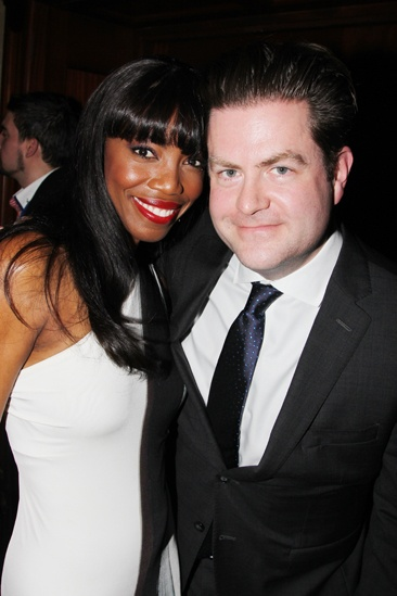 The Bodyguard opening night  Heather Headley  Paul Wontorek