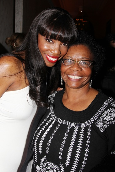 The Bodyguard opening night  Heather Headley  mother