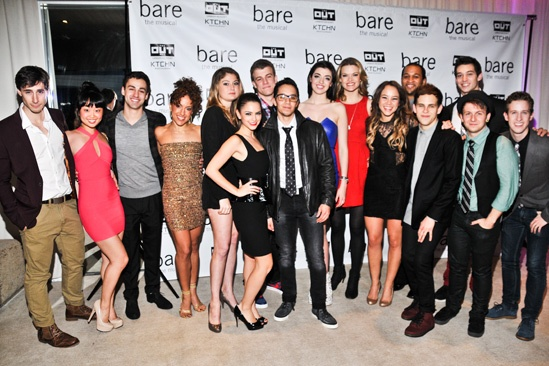Bare  Opening Night  cast