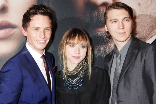 Les Miserables New York premiere – Eddie Redmayne – Zoe Kazan – Paul Dano