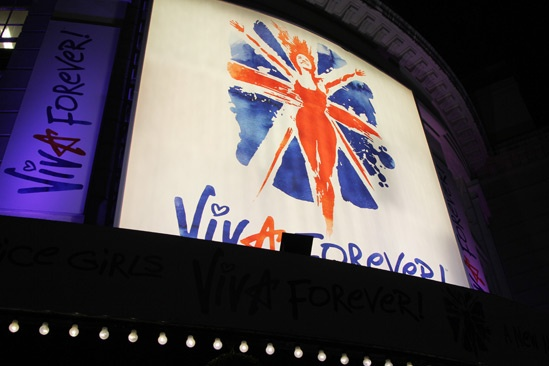 Viva Forever opening night – marquee
