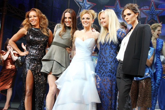 Viva Forever opening night  Melanie Chisholm  Melanie Brown  Geri Halliwell  Emma Bunton  Victoria Beckham