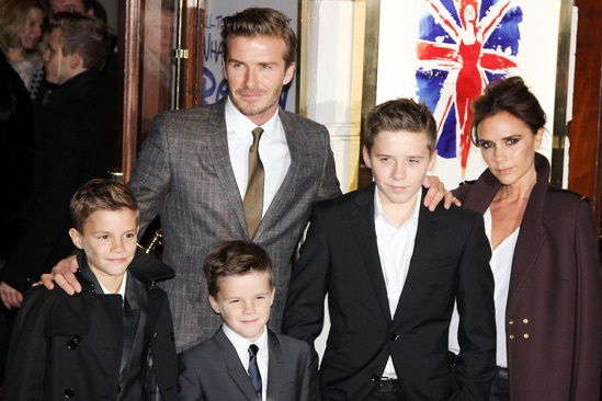 11 Viva Forever opening night – Romeo Beckham – David Beckham – Cruz Beckham – Brooklyn Beckham – Victoria Beckham