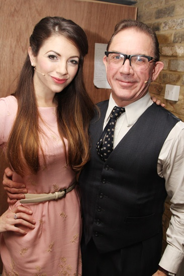 Backstage at 'Sweet Smell of Success' — David Bamber — Caroline Keiff
