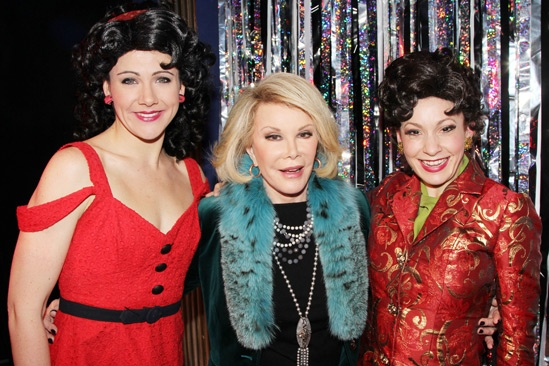 Joan Rivers at 'Forbidden Broadway' — Natalie Charle Ellis — Joan Rivers — Jenny Lee Stern