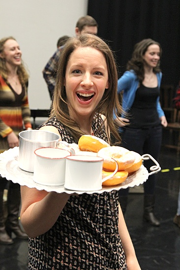 Carousel Rehearsal – Jessie Mueller (tray)