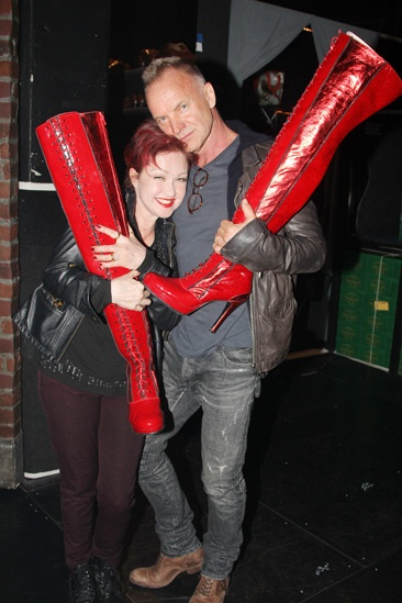 Photo 6 of 6 rock icon sting joins for Cyndi lauper broadway kinky boots