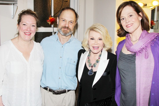 Joan Rivers and Tab Hunter Visit the Funny Folks at <i>Vanya and Sonia and Masha and Spike</i>