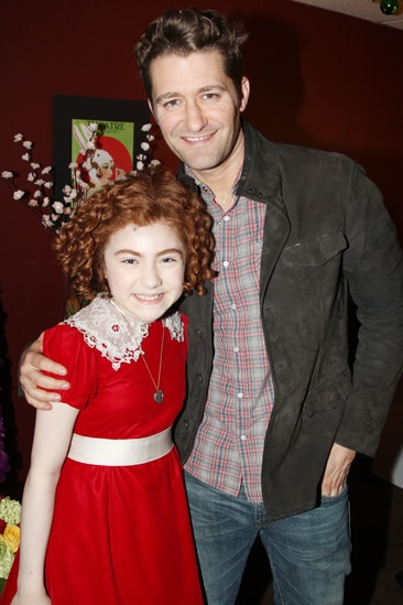 Matthew Morrison at Annie – Matthew Morrison – Lilla Crawford
