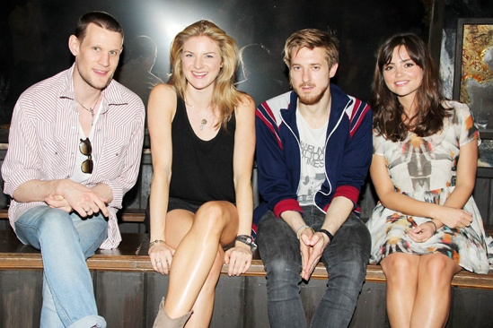 'Doctor Who' Stars at 'Once' — Matt Smith — Joanna Christie — Arthur Darvill — Jenna-Louise Coleman