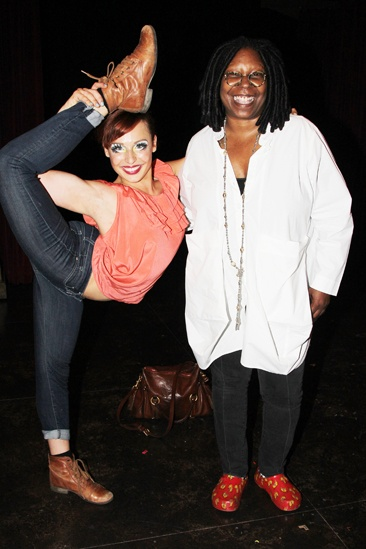 Pippin – Whoopi Backstage Visit – Olga Karmansky – Whoopi Goldberg