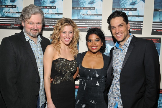 Murder Ballad – Opening Night – John Ellison Conlee – Caissie Levy – Rebecca Naomi Jones – Will Swenson