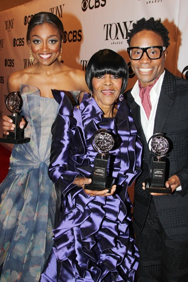 2013 Tony Awards Winner's Circle – Patina Miller — Cicely Tyson — Billy Porter