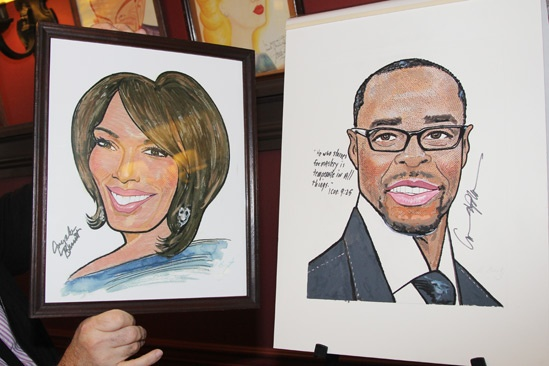 Courtney B. Vance at Sardi's — Angela Bassett — Courtney B. Vance