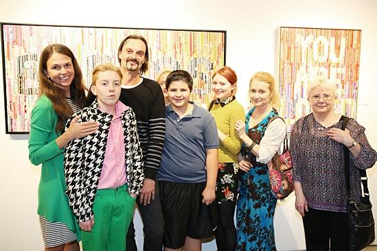 Sutton Foster Art Gallery Opening – Sutton Foster – Julien Havard – family
