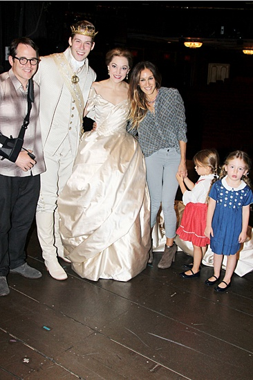 Sarah Jessica Parker and daughters at Cinderella – Sarah Jessica Parker – Loretta Broderick – Tabitha Broderick – Laura Osnes – Andy Jones – Matthew Broderick