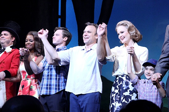 Big Fish – Opening Night – Brad Oscar – Krystal Joy Brown – Bobby Steggert – Norbert Leo Butz – Kate Baldwin – Zachary Unger