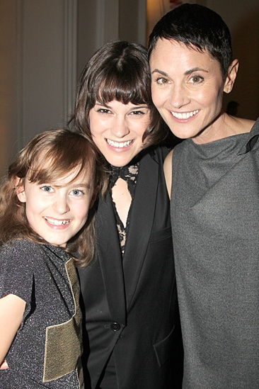 Fun Home Opening Night – Sydney Lucas – Alexandra Socha – Beth Malone