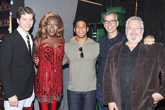 Kinky Boots – Darren Young visit – Stark Sands – Kyle Taylor Parker – Darren Young – Jerry Mitchell – Harvey Fierstein