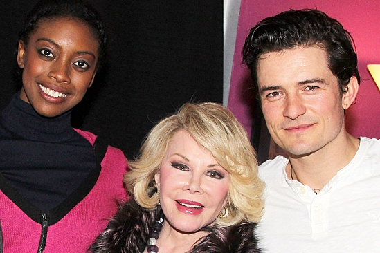 Celebs at Romeo and Juliet - Condola Rashad - Joan Rivers - Orlando Bloom