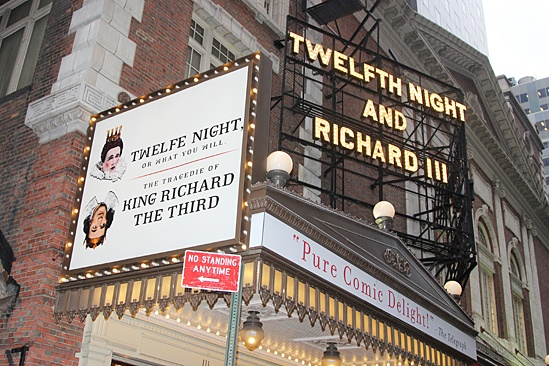 Richard III and Twelfth Night opening – marquee