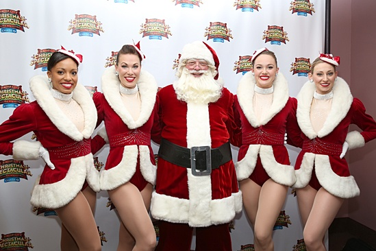 Radio City Christmas Spectacular 2013 opening – Adrienne Howard – Kristina Larson Hauk – Santa – Raley Zofko – Ashley Kasunich