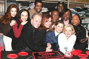 Chicago 3000 Perf - Chicago Cast with cake