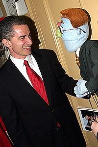 McGreevey @ Avenue Q - James McGreevey - Rod (handshake)