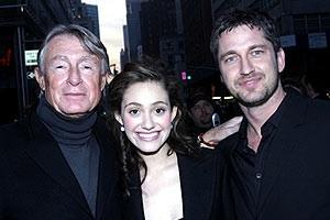 Phantom Film Stars at Bloomingdale&#39;s - Joel Schumacher - Emmy Rossum - Gerard Butler