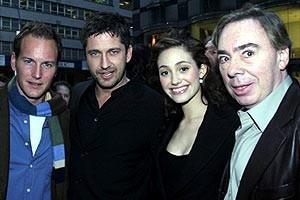 Phantom Film Stars at Bloomingdale's - Patrick Wilson - Gerard Butler - Emmy Rossum - Andrew Lloyd Webber