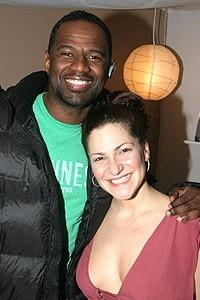 Stars Backstage at Wicked - Brian McKnight - Shoshana Bean