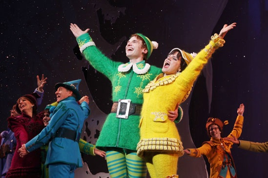Elf opens  Sebastian Arcelus  Amy Spanger